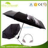 최신 판매 21inch 자동적인 열려있는 광고 관례 접히는 우산