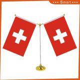 Premio de tejido personalizado intercambio Bunting Dest poliéster Bandera de mesa