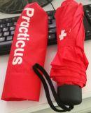 La lluvia más barata/paraguas plegable de Sun 3 con insignia