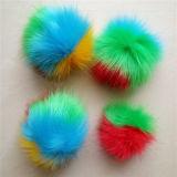 15cmの帽子のための擬似キツネの毛皮のポンポンのKeychainの毛皮POM
