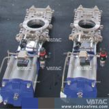 Vatac Wcb/Lcb/WC6/SS304/SS316 através da canalização da válvula de gaveta da faca com bolacha/Espigão termina