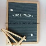 Scheda di legno personalizzata della lettera del feltro del nero dell'appunto con le lettere di plastica