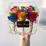 꽃을%s 다른 디자인 둥근 아크릴 포장 상자