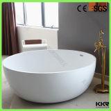 Vasche di bagno indipendenti ovali di superficie solide acriliche artificiali