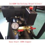 compressore d'aria rotativo Oilless di aria di 2X1400W 50L della vite silenziosa idraulica industriale senza olio della pompa