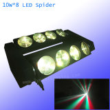 LED 거미 광속 이동하는 헤드 8*10W