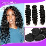 Волосы волны качества 100% волос Quercy верхние людские индийские глубокие (w-075)
