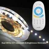 Température de couleur duelle Dimmable 300LEDs/5m de lumière de bande du blanc 5050
