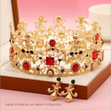 Oorringen en Tiara van de Ornamenten van het Haar van de Kroon van het Bergkristal van de Kroon van de bruid de de Uitstekende (J03)