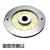 9*3Wフルカラーの変更LEDの水中噴水の防水ライト