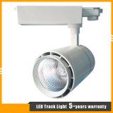 高品質の白くか黒いハウジング25W LEDトラック点の照明