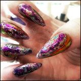 Nail Art polvo de purpurina, 3D de bricolaje Decoración de uñas copos lentejuelas