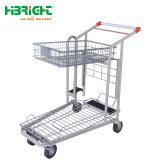 Entrepôt de 500kg Heavy Duty Chariot cargo Panier avec plate-forme réglable