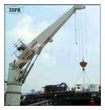 Grue hydraulique électrique Piédestal Grue Marine