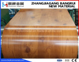 PPGIは木製パターンが付いている鋼鉄コイルを印刷した