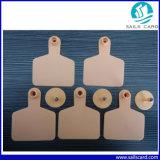 бирки уха скотин UHF 860~960MHz RFID 100*74mm желтые Plstic