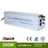 13.5V 200W Wechselstrom wasserdichten LED Aluminiumfahrer zum Gleichstrom-SMPS IP67