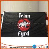 A feira profissional anuncia bandeiras feitas sob encomenda da impressão da promoção do logotipo