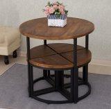 معدن أثاث لازم حديد طاولة و4 كرسيّ مختبر [م071]