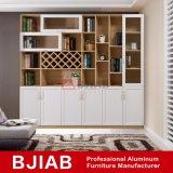 De aangepaste Witte Eiken Moderne Boekenkast van het Bureau van het Aluminium van het Meubilair van het Huis van het Metaal