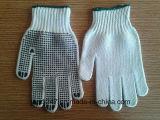 PVC de protection pointillant les gants protecteurs enduits par ride bon marché de travail de Gloves/13gauge dans Guangzhou