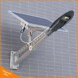 Outdoor tous dans une rue lumière LED intégrée solaire avec 10W, 20 W, 30 W, 50 W, 100W