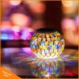 Colore chiaro alimentato solare del giardino della sfera di vetro del mosaico che cambia le lampade solari esterne della Tabella per le decorazioni dei partiti
