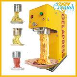 Rang van het voedsel 304 Roomijs dat van de Spaghetti van de Bovenkant van de Lijst van het Roestvrij staal het Italiaanse Machine voor Commercieel Gebruikt maakt