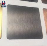 Anti-Fingerabdruck schwarzer TitanEdelstahl-Panel-Haarstrich, Pinsel, Sandstrahlen, Schwingung