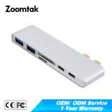 MacBook를 위한 Pd Type C Charge Hub를 가진 2 Port USB3.0에 Quality 높은 USB 3.0 Type C