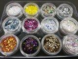 3D-треугольник Блестящие цветные лаки для ногтей и лак для ногтей салон красоты 12 ПК в 1, 2,5 ггц, упаковка