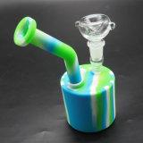 Tazón de fuente de cristal de los tubos que fuman de la novedad que fuma con la luz del LED
