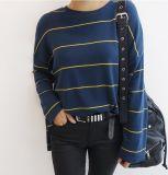 Fashion&#160 ocasional de alta qualidade por atacado; T-shirt listrado para unisex