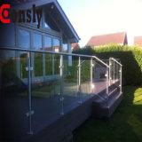 Modèle en verre de pêche à la traîne de balustrade de balustrade d'acier inoxydable de miroir/satin de Foshan Chine AISI304/316 pour le paquet /Staircase/Fence/Balcony