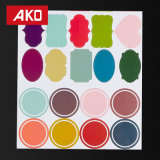 OEM het Kleurrijke Kleine Etiket van de Stickers van het Bureau van de Rechthoek van Etiketten