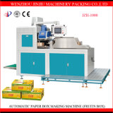 Máquina automática de la fabricación de cajas de la fruta del cartón