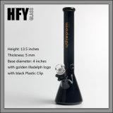 5mm noir en verre borosilicaté bécher Tube de fumer le narguilé Shisha Illadelph Cigarette pipe à eau