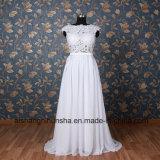 Handgemachtes Backless Frauen-Hochzeits-Kleid-reizvolles Chiffon- Strand-Hochzeits-Kleid