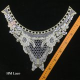 39*34cm Ösen-Ivory Muffen-Spitzeappliques-Stickerei-Tulle-Ordnungs-Muffen-Blume Hme920