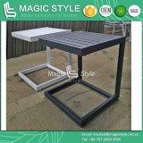 Mesa lateral em alumínio para exterior Jardim Mesa de Café Da Praça mesa de café de alumínio moderna mesa lateral mesa de chá