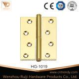 Dobradiça de bronze da ferragem de madeira da porta interior com cabeça lisa (HG-1021)