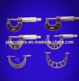 Micromètres extérieurs d'arrêt de rochet de qualité (peints ou bâti passé au bichromate de potasse)