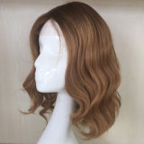 Peluca superior de seda brasileña del pelo ondulado (PPG-l-0611)
