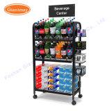 Fußboden-stehende Supermarkt-Einzelverkaufs-Wasser-Flaschen-Speicher-Metallbildschirmanzeige-Zahnstange