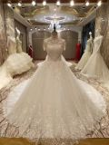 Vestido de casamento do vestido de esfera do laço do luxo 2017