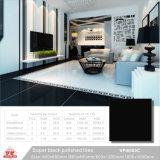 El negro puro Baldosas 600x600mm 24''x24'' Super White Material de construcción de porcelana decoración suelos de baldosas de cerámica pulida (VPI6109, 600x1200mm)