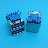 Der blaue Plastik PBT 2.0 weiblich verdoppelt BADusb-Verbinder
