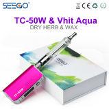 Aqua asciutto di Vape Seego Tc-50W+Vhit dell'erba del vaporizzatore di erbe con il flusso d'aria registrabile