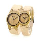 Correa de cuero casual Popular bonito reloj de madera para hombres Don