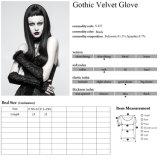 S-227 de gotische Handschoenen van Fingerless van het Bont van het Kant van de Dames van de Partij van het Kostuum van het Fluweel Zwarte